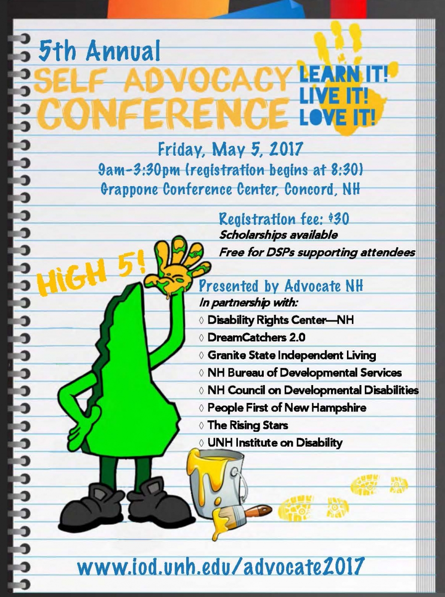 5th Annual Self Advocacy Conference Brochure Cover