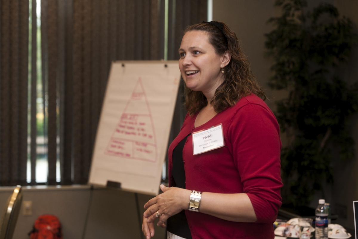Heidi Cloutier Presents at a RENEW Training