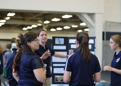 UNH Students at Poster Presentation