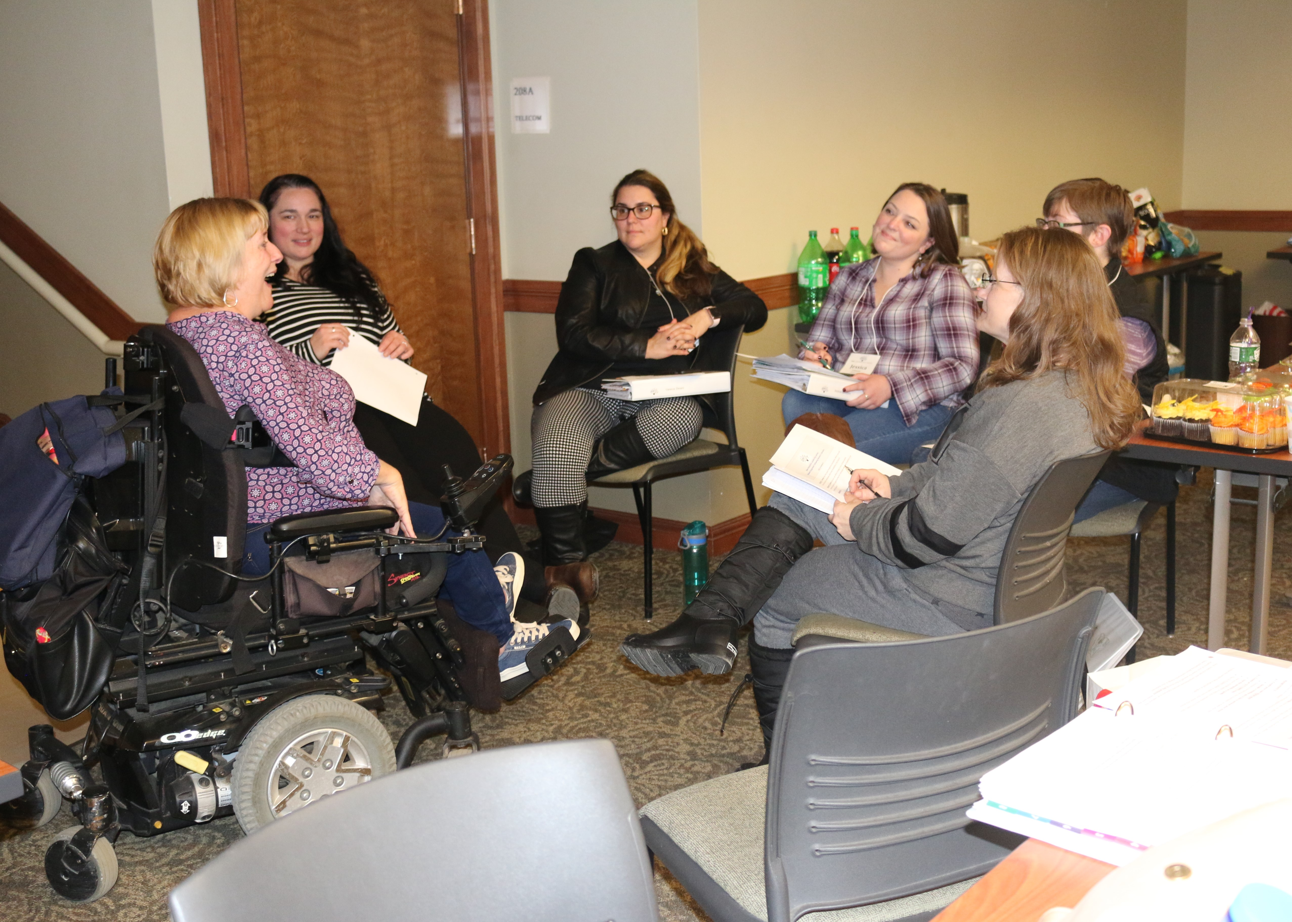 Leadership participants meeting with IOD's Kathy Bates
