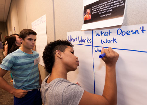Students Writing their Future Plans