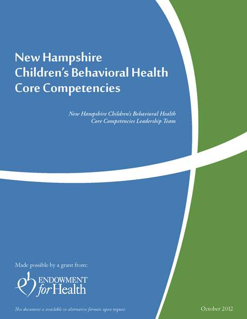 Picture and Link to pdf of NH Children's Behavioral Health Core Competencies document