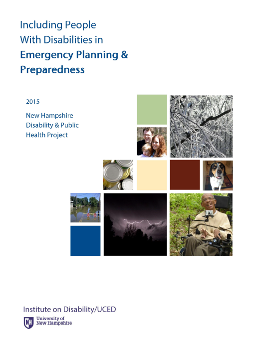 Including People with Disabilities in Emergency Planning & Preparedness