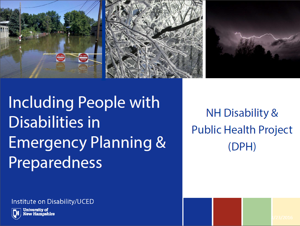 Including People with Disabilities in Emergency Planning & Preparedness Powerpoint