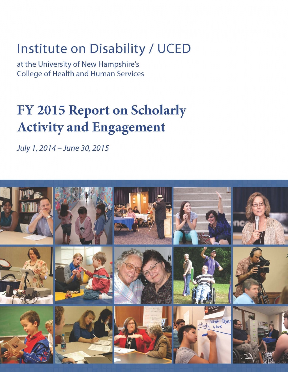 2015 IOD Report on Scholarly Activity & Engagement Cover