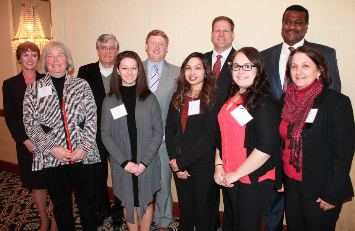 Honorees at Social Work Celebration on March 24, 2017 with NH Governor Chris Sununu