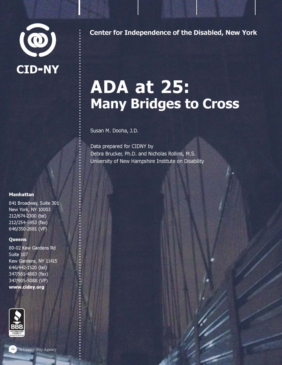 ADA at 25: many bridges to cross (cover)
